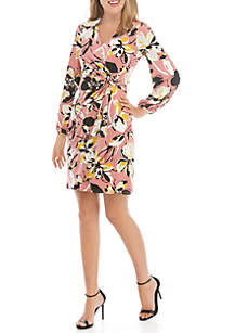 THE LIMITED Printed Wrap Dress