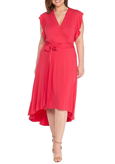 THE LIMITED Plus Size Cap Sleeve Flutter High