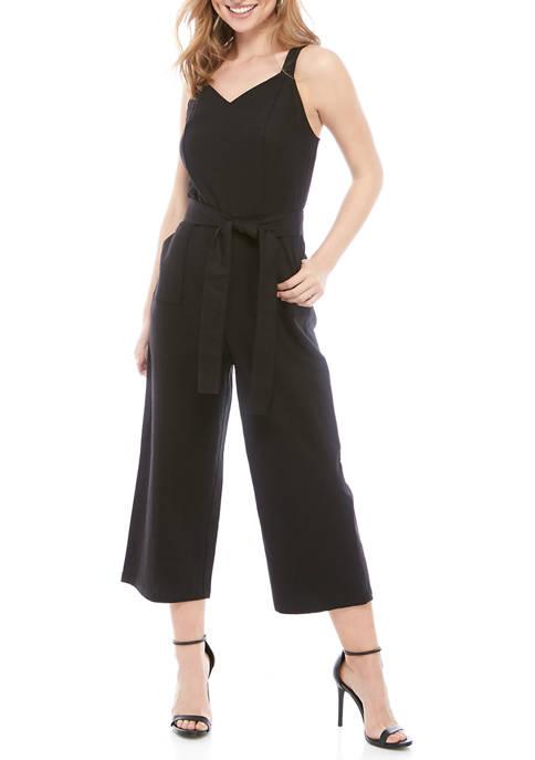 THE LIMITED Petite Linen Tie Waist Wide Leg