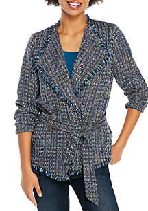 Tweed Jacket with Tie