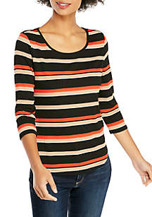 Petite Fashion 3/4 Sleeve Pullover