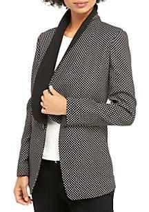 Petite Metallic Dot Tuxedo Jacket