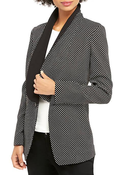 Metallic Dot Tuxedo Jacket