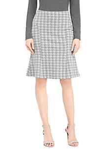 Petite Knit Skirt with Flutter Hem