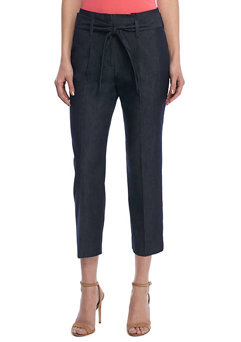 THE LIMITED Signature Paperbag Pant in Career Denim