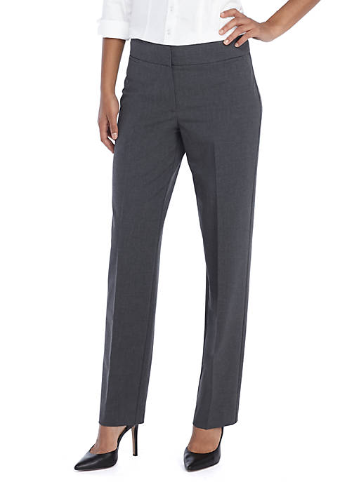 THE LIMITED Petite Heathered Plain Weave Straight Pant