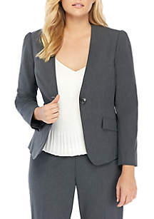 Plus Size Pleated Jacket