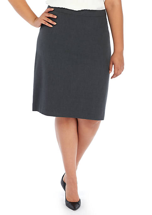 THE LIMITED Plus Size Pleat Back Pencil Skirt