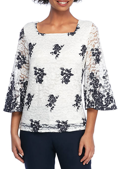 THE LIMITED Embroidered Lace Blouse