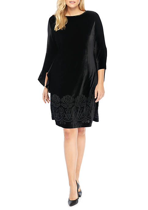 THE LIMITED Plus Size Bell Sleeve Burnout Dress