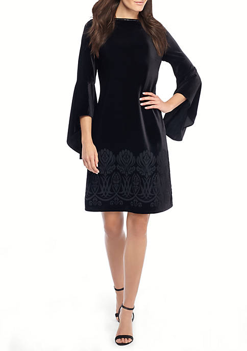 THE LIMITED Bell Sleeve Burnout Dress