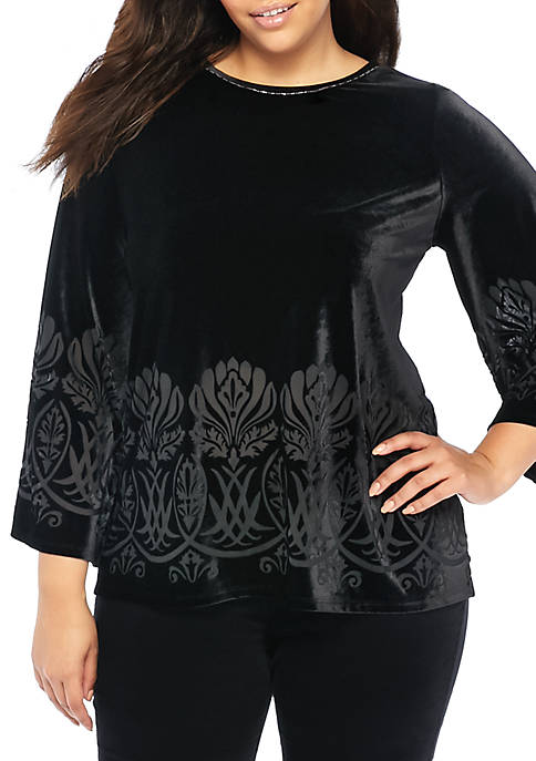 THE LIMITED Plus Size Bell Sleeve Bead Trim