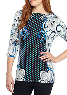 Printed Asymmetrical Tunic