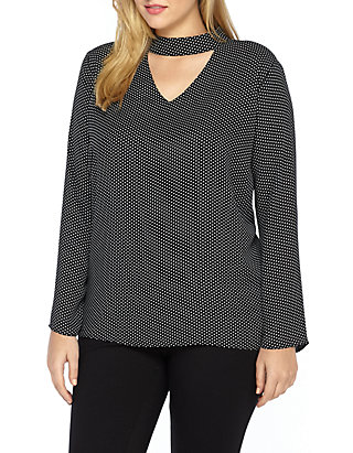 THE LIMITED Plus Size Choker Neck Blouse | belk