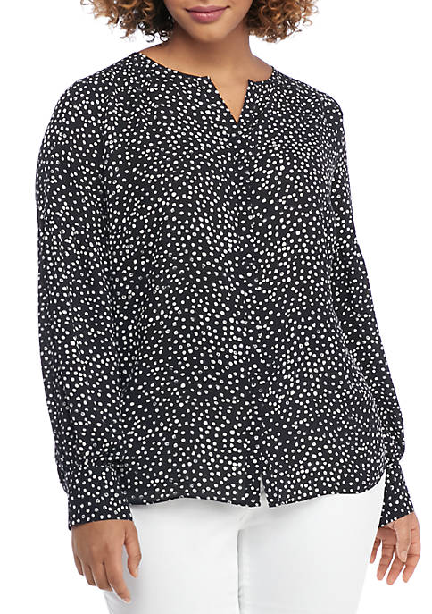 THE LIMITED Plus Size Puff Sleeve Crepe Blouse