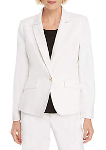 THE LIMITED One Button Blazer in Linen