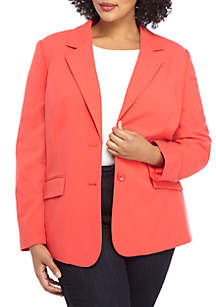 1ce1be9fe61 ... THE LIMITED Plus Size Long 2 Button Jacket in Modern Stretch