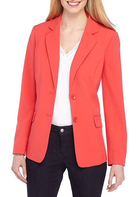 Petite 2 Button Jacket in Modern Stretch