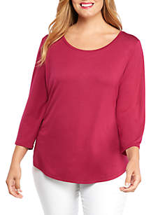 THE LIMITED Plus Size 3/4 Sleeve Top