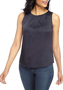 THE LIMITED Satin Back Shell Top