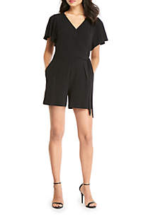 THE LIMITED Tie Waist Romper