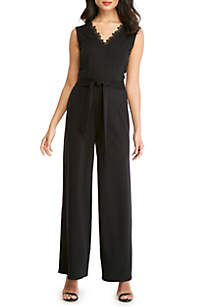 THE LIMITED Lace Trim Jumpsuit
