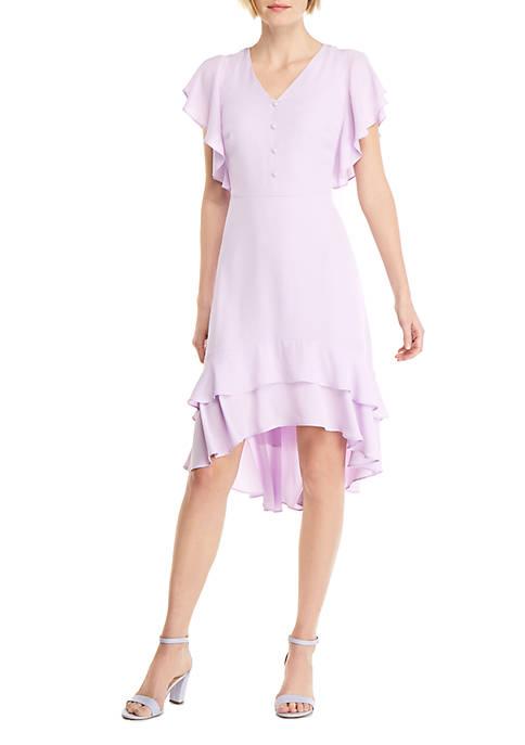 Petite High Low Ruffle Dress