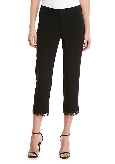 Lace Trim Pants