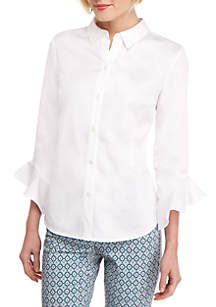 THE LIMITED Petite Fashion Woven Button Down Shirt