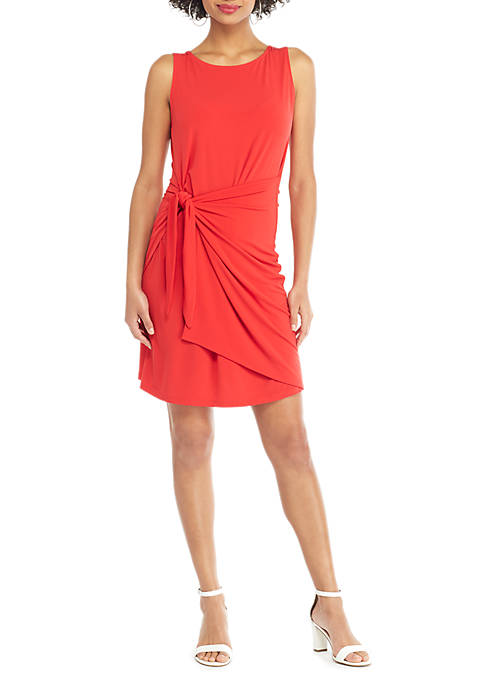 Petite Sleeveless Sarong Tie Dress