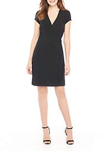 ITY Short Sleeve Wrap Dress