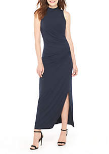 Midi Mock Ruch Dress