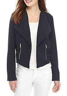 Petite Drape Front Jacket