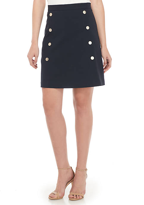 THE LIMITED A-Line Button Skirt