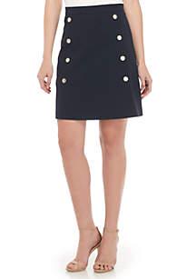 A-Line Button Skirt