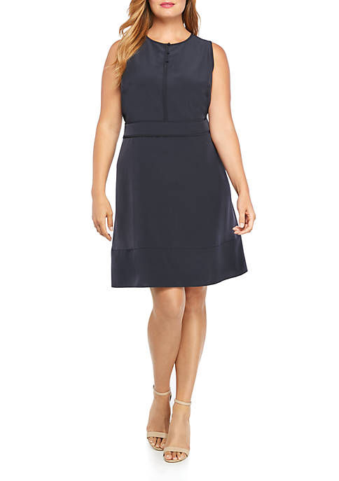 THE LIMITED Plus Size Sleeveless Button Front Dress
