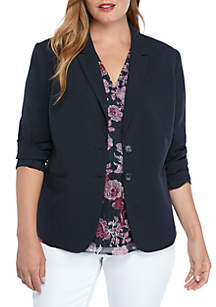 THE LIMITED Plus Size New Drew 2 Button Blazer in Modern Stretch