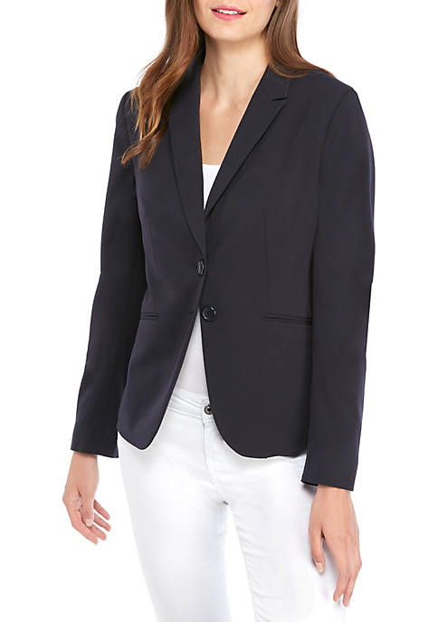Petite New Drew 2 Button Blazer in Modern Stretch