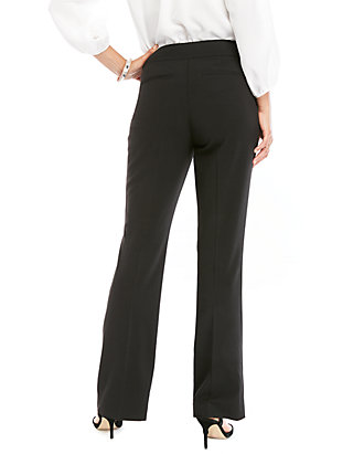 Chaps Womens Straight Bi Stretch Twill Cropped-Pant Business Casual Pants