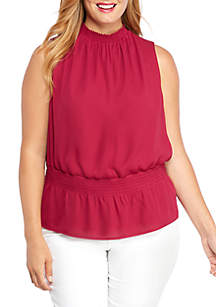 THE LIMITED Plus Size Sleeveless Cinched Waist Top