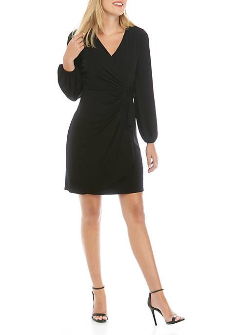 Womens Grommet Wrap Dress