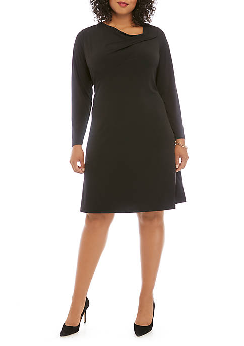 THE LIMITED Plus Size Long Sleeve Gathered Neck