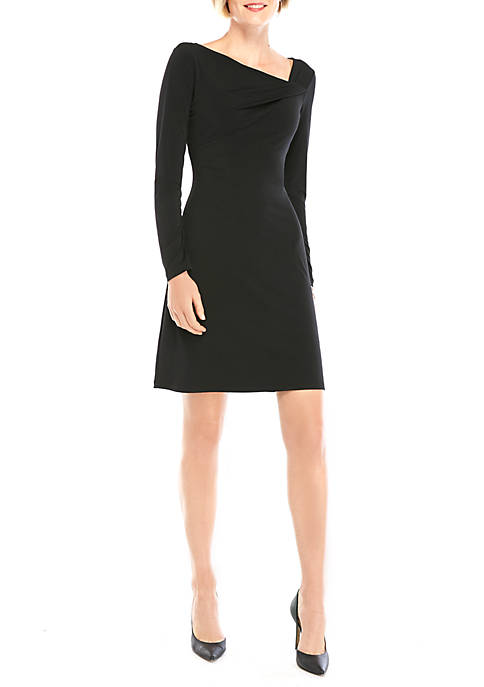 THE LIMITED Long Sleeve Gathered Neck Dress