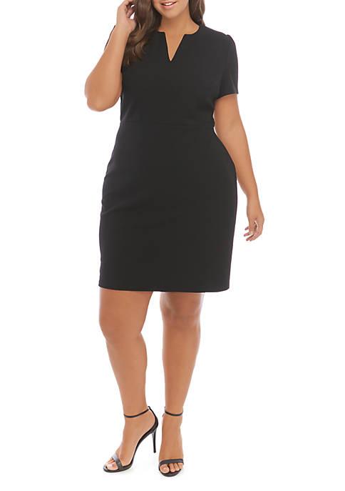 THE LIMITED Plus Size Scuba Crepe Midi Dress