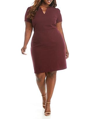 Plus Size Scuba Crepe Midi Dress