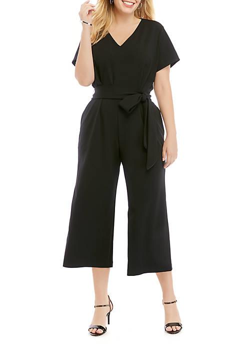 Plus Size Scuba Crepe Jumpsuit
