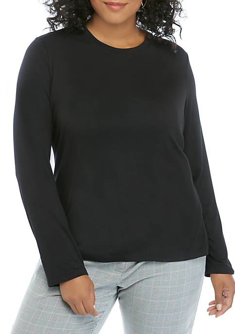 THE LIMITED Plus Size Long Sleeve Crew T