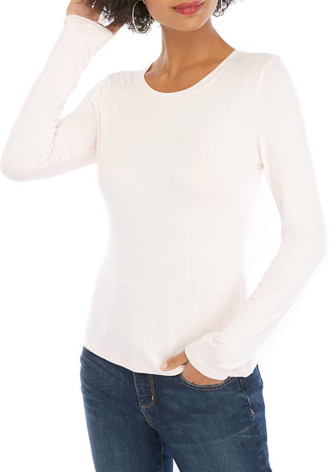 THE LIMITED Petite Long Sleeve Crew T Shirt