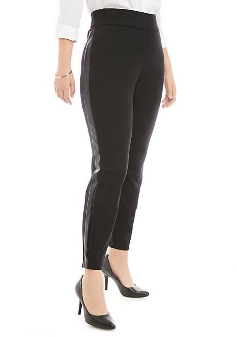 Plus Size Side Panel Vegan Leather Pants