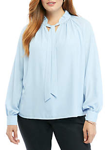 THE LIMITED Plus Size Ashton Top with Tie